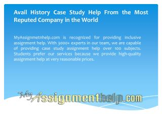 History Case Study Help Online