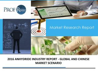 Anhydride Industry, 2011-2021 Market Research