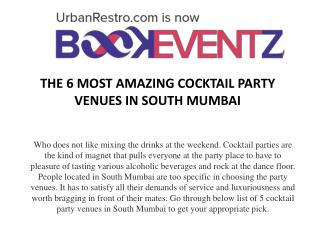 The 6 Most Amazing Cocktail Party Venues in South Mumbai, BookEventZ
