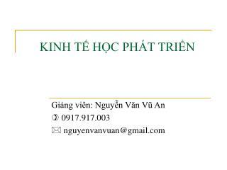 KINH T HC PH T TRIN