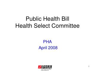 Public Health Bill  Health Select Committee