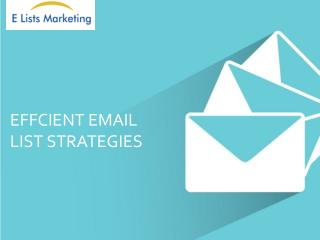 Effective Email List Strategies