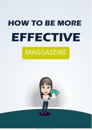 How To Be More Effective Productive & Proactive? PDF - Free