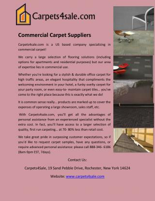 Commercial Carpet Suppliers