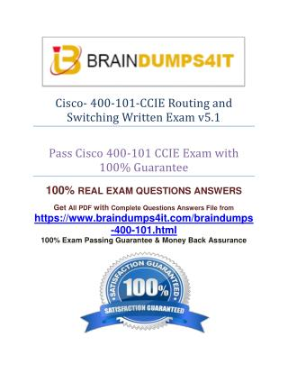 Cisco 400-101 Exam Question Answer