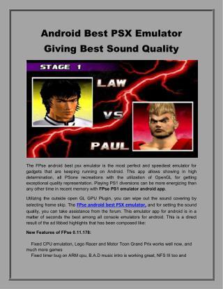 FPse Android Best PSX Emulator Giving Best Sound Quality