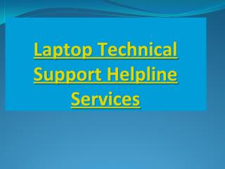 Technical Customer Support Services For All Branded Desktops And Laptops