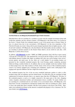 Get Best Deals on Ats Rhapsody Residential Project Noida Extension