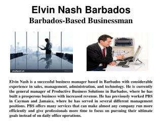 Elvin Nash Barbados - Barbados-Based Businessman