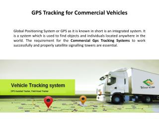 Commercial Vehicle GPS Tracking System