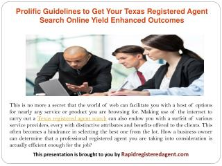 Prolific Guidelines to Get Your Texas Registered Agent Search Online Yield Enhanced Outcomes