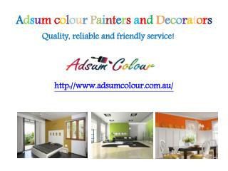 Professional Painters Sydney - Adsum Colour Sydney Painters