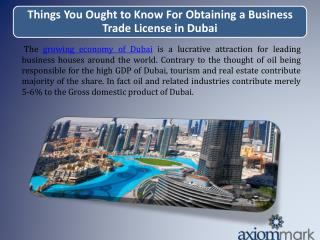 Things You Ought to Know For Obtaining a Business Trade License in Dubai