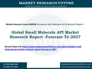 Global Small Molecule API Market Research Report- Forecast To 2027