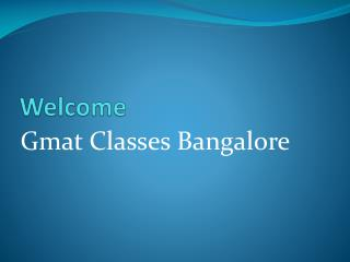 GMAT Preparation in Bangalore