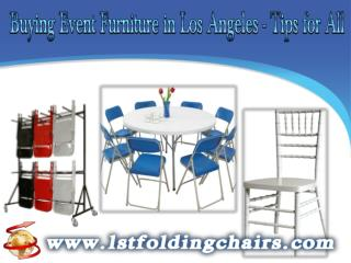 Buying Event Furniture in Los Angeles - Tips for All