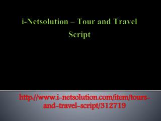 i-Netsolution - Tour and Travel Script