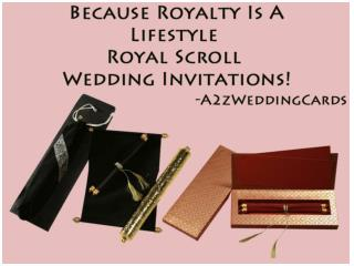Because Royalty Is A Lifestyle – Royal Scroll Wedding Invitations!