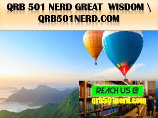 QRB 501 NERD Great  Wisdom \ qrb501nerd.com