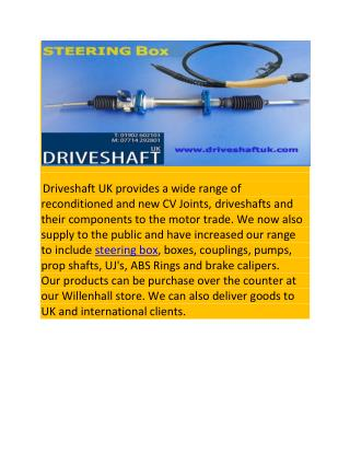 Steering Box UK