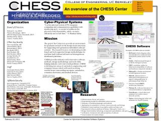 An overview of the CHESS Center