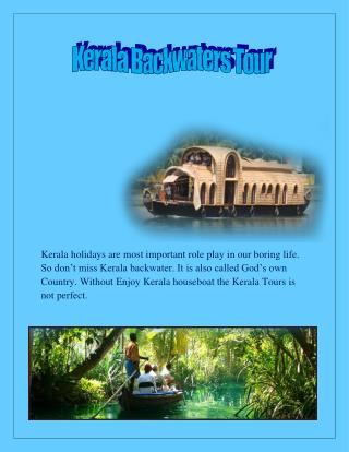 Book a Kerala Backwater Tour