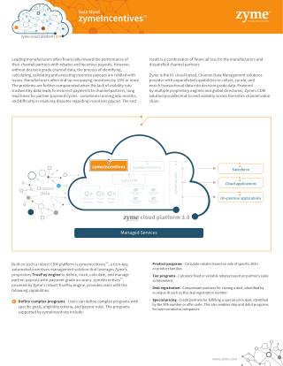 Zyme is the #1 cloud-based | CDM solutions Providers