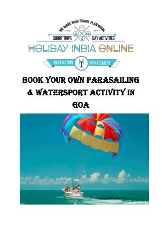 Book Your Own Parasailing & Watersport Activity in Goa