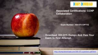 dumpsdownload Exam Dumps 300-075