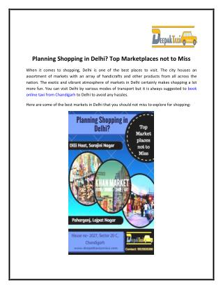 Planning Shopping in Delhi Top Marketplaces not to Miss
