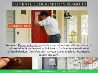 Top Rated Locksmith in Plano TX