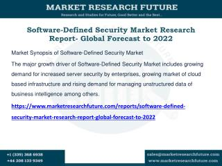 Software-Defined Security Market Research
