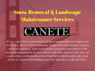 Commercial Snow Removal Nj