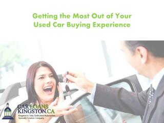 Getting the Most Out of Your Used Car Buying Experience