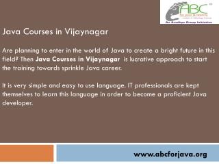 Java Courses in Vijaynagar