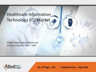 Healthcare Information Technology (IT) Market - Industry set to go positively