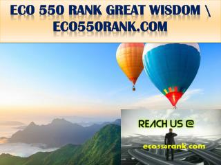ECO 550 RANK GREAT WISDOM \ eco550rank.com