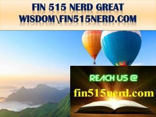 FIN 515 NERD GREAT WISDOM\fin515nerd.com