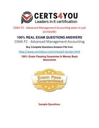 Cima P2 Exam Questions
