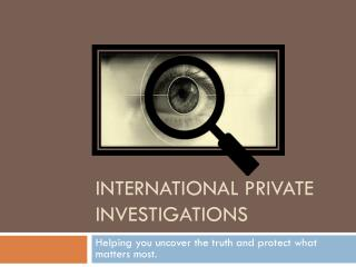 Private Investigations and Document Service