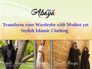 Transform your Wardrobe with Modest yet Stylish Islamic Clothing