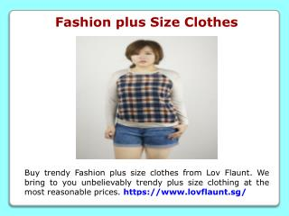 Fashion plus Size Clothes