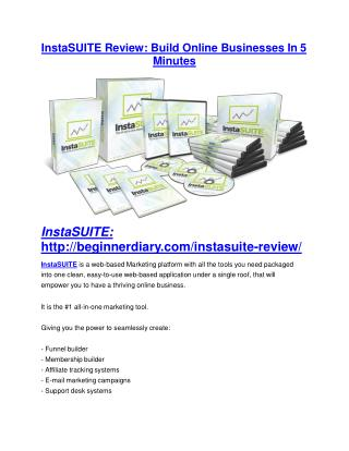 InstaSUITE REVIEW & InstaSUITE (SECRET) Bonuses