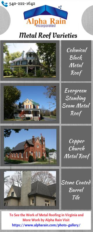 View Metal Roofing Images in Varieties: Alpha Rain Inc