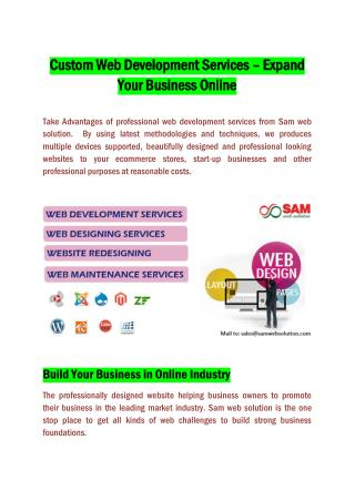 Custom web development services – Expand your business online