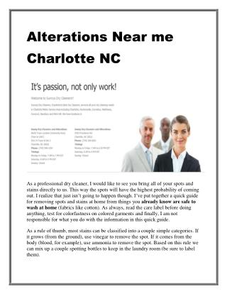 Alterations Near me Charlotte NC | professional dry cleaners