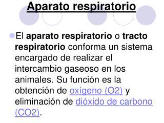 Aparato respiratorio