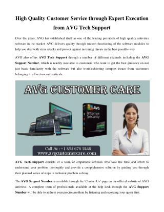High Quality Customer Service from AVG Support Number