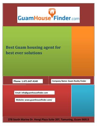 Best Guam housing agent for best ever solutions