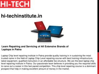 Learn Repairing and Servicing of All Extensive Brands of Laptops in Patna